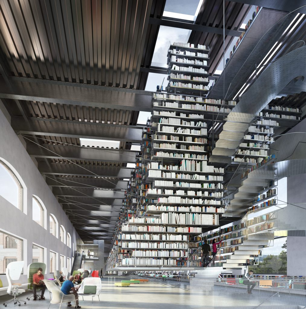 a futuristic idea for library architecture